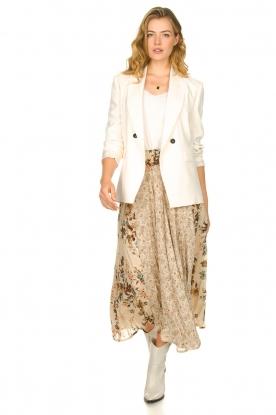 Louizon |  Floral maxi skirt Ted | naturel