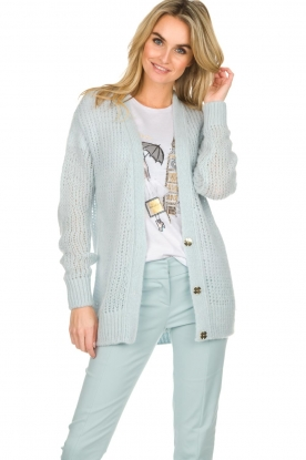 Patrizia Pepe |  Knitted cardigan Barbera | blue