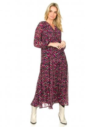 Louizon |  Maxi dress with print  Xylophone  | pink