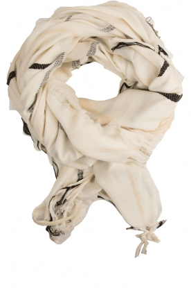 By Malene Birger |  Woollen XL scarf Oribe | white
