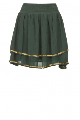 Louizon | Skirt with golden beads Osiris | green