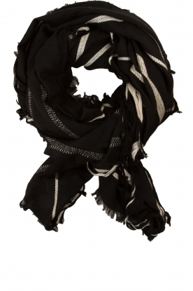 By Malene Birger |  Woollen XL scarf Oribe | black