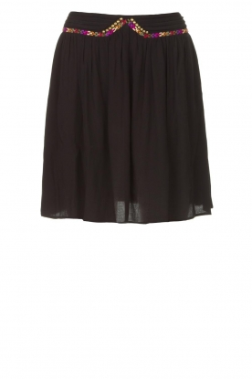 Louizon | Skirt with colored seams Beatnic | black