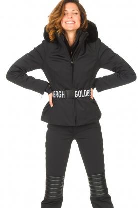 Goldbergh |  Down jacket with faux fur Hida | black