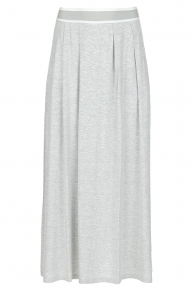 BLAUMAX |  Maxi skirt with slit Tigris | light grey
