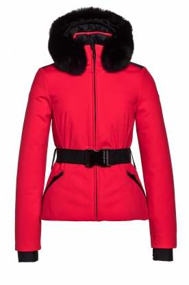 Goldbergh |  Down jacket with faux fur Hida | red