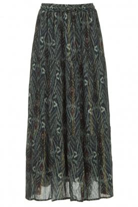 Louizon |  Maxi skirt with lurex stripes Jagarma | green