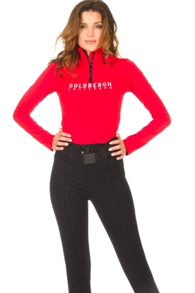 Goldbergh    Ski pully with logo Mandy   red