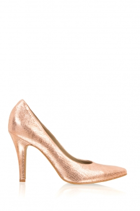 Noe |  Leather pumps Argento | pink