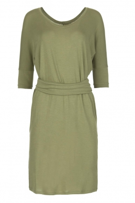 BLAUMAX |  Dress with waist band Mila | green