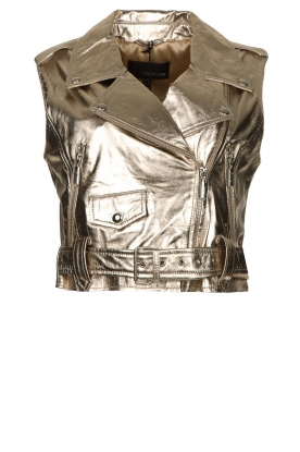 STUDIO AR BY ARMA | Leather waistcoat Moon | gold