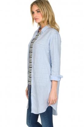 BLAUMAX | Linnen blouse Marlyne | Blauw