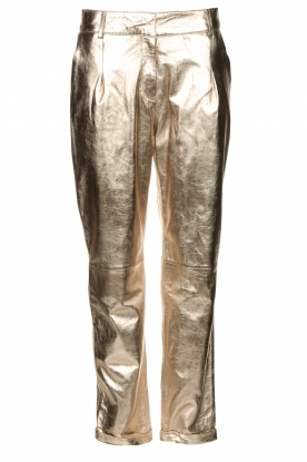 STUDIO AR BY ARMA | Metallic leren chinobroek Nessa | goud