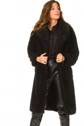 JC Sophie | Faux fur jas Judy | zwart