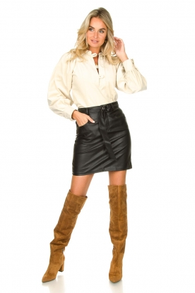 Look Baby rib blouse with puffed sleeves Mona