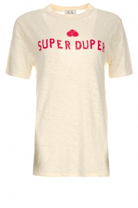 Zoe Karssen | T-shirt Super duper | natural