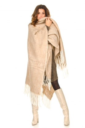 Look Knitted poncho Jaelle