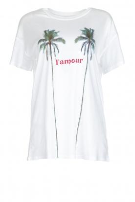Zoe Karssen | T-shirt L'amour | wit