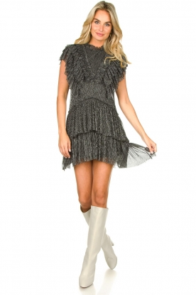 Look Lurex ruffle dress Pigalle