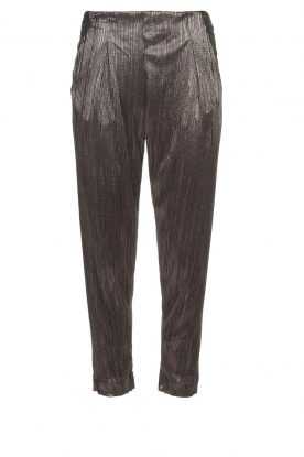 Rabens Saloner |  Plisse trousers Delight | Silver