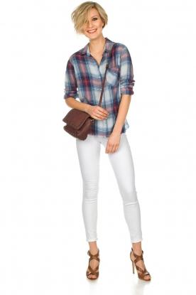 Bella Dahl |   Plaid blouse Nora | blue