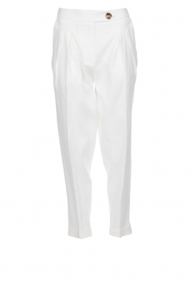AnnaRita N |  Linen trousers Rozalie | white