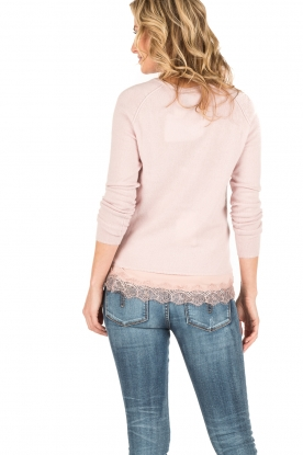Rosemunde | Wol/kasjmier vest Isa | light pink