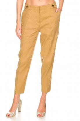 AnnaRita N |  Linen trousers Noah | camel
