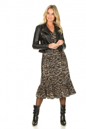 Look Dress with zebra print Rosie