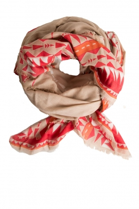 I love my Moment | Silk scarf Femme | brown