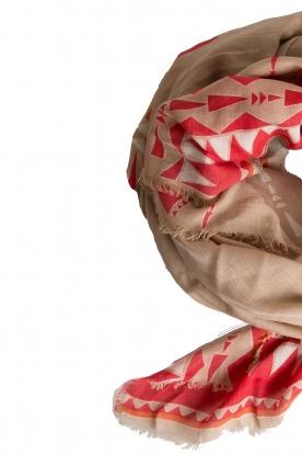 I love my Moment | Zijden sjaal Femme | bruin