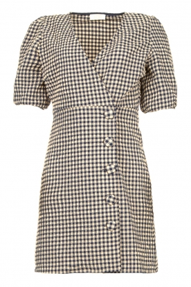 Notes Du Nord | Checkered dress Riley | blue
