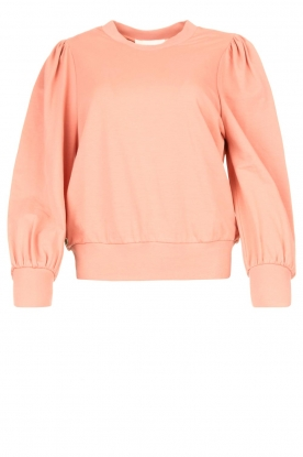 Notes Du Nord |Sweater with puff sleeves Oxford | pink