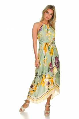 AnnaRita N |  Floral maxi dress Christy | groen