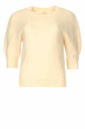 JC Sophie |  Knitted sweater with puff sleeves Jillian | natural
