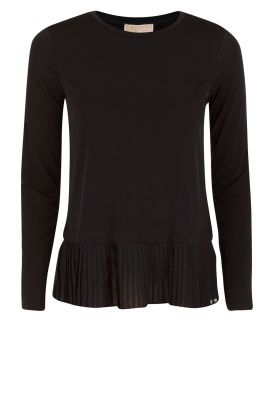 MICHAEL Michael Kors |  Top with pleats Solid | navy blue