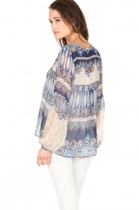 Hale Bob | Zijden blouse Melanie | blauw