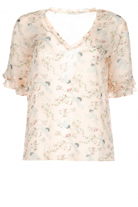 IKKS |  Top Delphine with unique print | powder pink