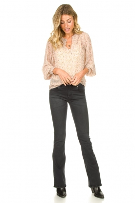 Lois Jeans |  L32 Flared stretch jeans Melrose | black