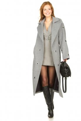 Look Denim ruffle dress Alexia