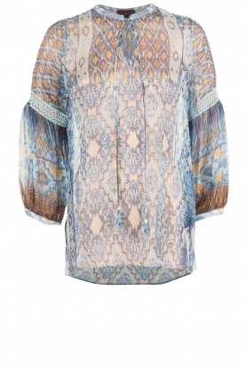 Hale Bob |  Silk blouse Cindy | blue