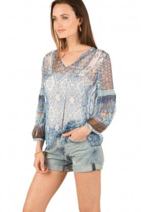 Hale Bob | Zijden blouse Cindy | blauw
