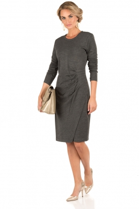 MICHAEL Michael Kors | Jurk Side Pleat | grijs