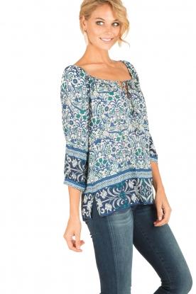 Hale Bob   Off-shoulder blouse Logan   blauw