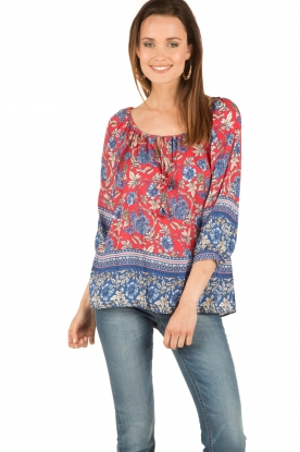 Hale Bob | Off-shoulder blouse Logan | rood
