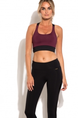 Sports bra Cross | bordeaux