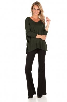 MICHAEL Michael Kors | Flared jeans Selma lengtemaat 34 | zwart