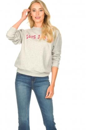 Lois Jeans |  Logo sweater Iris | grey