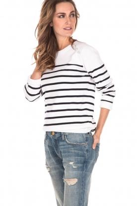 Sweater Marine | white