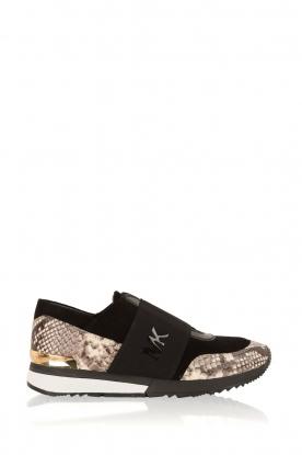 MICHAEL Michael Kors | Leren sneakers Lux | zwart/slangerprint